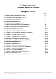 Certificate Programmes