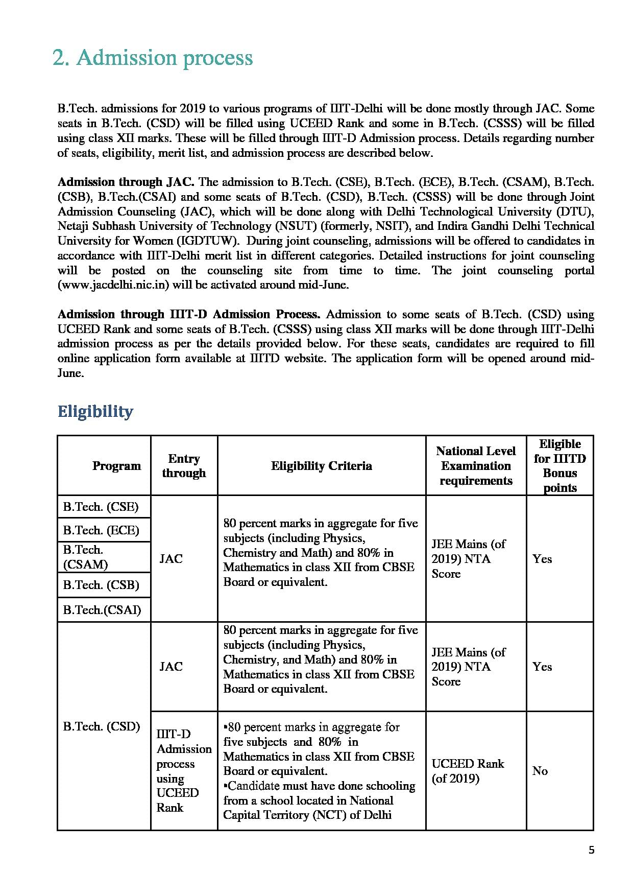 IIIT Delhi - Cutoff 2019, Admission, Placements, Course, Fee