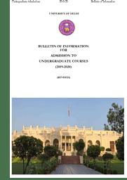 UG Bulletin