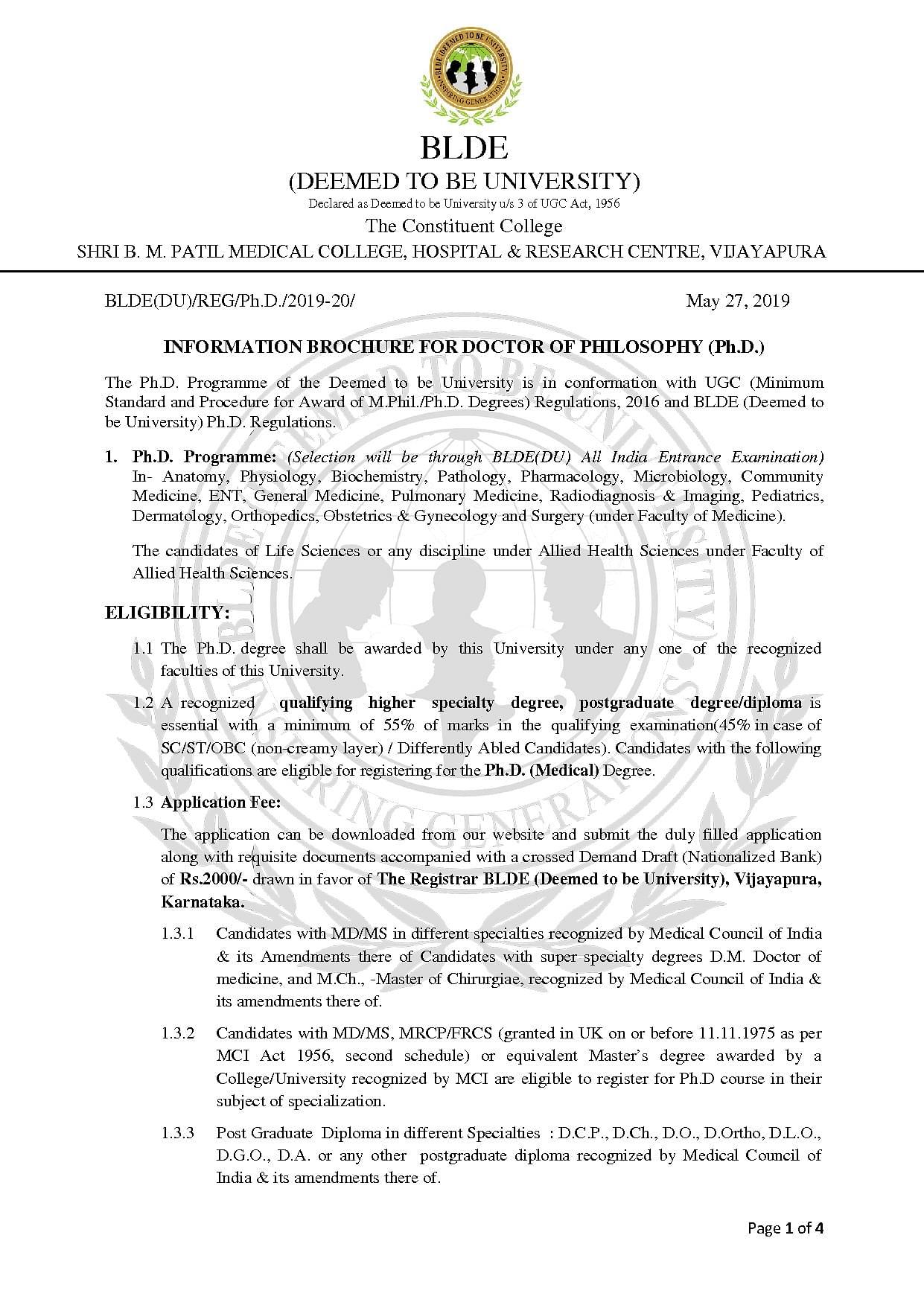 BLDE University, Bijapur - Admissions, Contact, Website