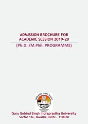 Ph.D. /M.Phil. PROGRAMME