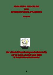 Admission Brochure for international students
