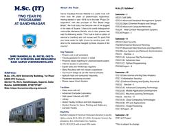 M.Sc IT Brochure