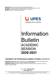 Information Brochure 2020