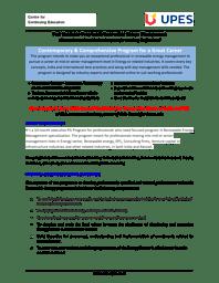 PGP in Renewable Energy Brochure