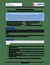 MBA International Business Brochure