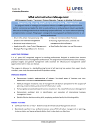 MBA Infrastructure Management Brochure