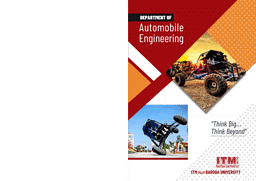 Automobile Engineering Brochure