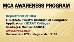 MCA Brochure
