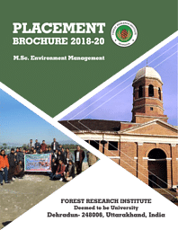 Placement Broucher (M.Sc Environment Management).