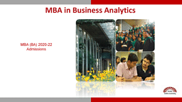 Post Graduate Programme in Business Analytics