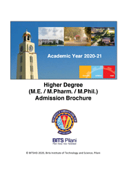 Higher Degree Brochure