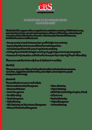 Marketing & Communication Management