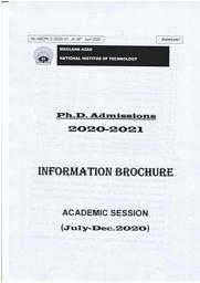 Information Broucher (Ph.D)