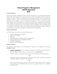 FPM Admission Bulletin