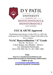 Broucher (Bio Technology and Bio Informatics)