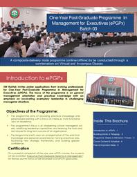 Ex-PGDM Brochure