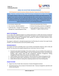 MBA Aviation 2020