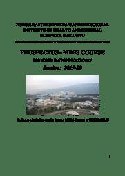 Prospectus (MBBS)