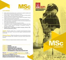 M.Sc Chemistry Brochure
