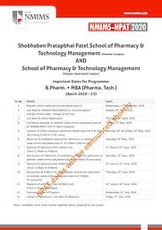 B.Pharm + MBA - Information Hangout