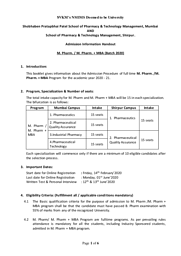 M.Pharm+MBA - Information Hangout