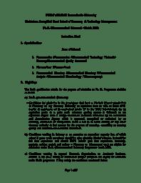 Ph.D (Pharm) - Information Handout