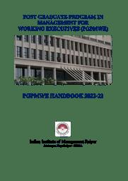 PGPMWE Brochure