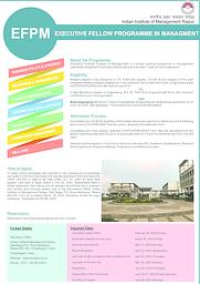 EFPM Admission Brochure