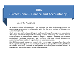 BBA (Professional-Finance & Accountancy)