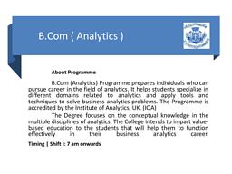 B.Com (Analytics)