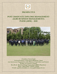 PGDM (Agri-Business Mgmt.) Brochure
