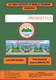 PROSPECTUS- DM M.Ch 2020