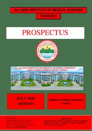 Prospectus Post Basic Diploma in Operating Room Nursing