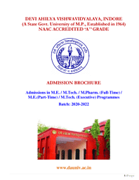 PG Admission Brochure 2020