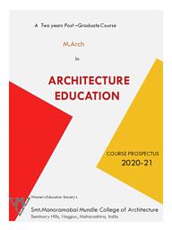 Master of Architecture [M.Arch.] (Architectural Design)
