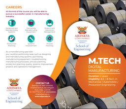 M.Tech (Digital Manufacturing) Brochure
