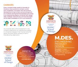 M.Des (Engineering Product Design) Brochure