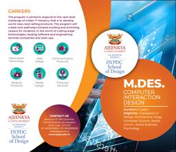 M.Des (Computer Interaction Design) Brochure