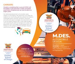 M.Des (Automobile Design) Brochure