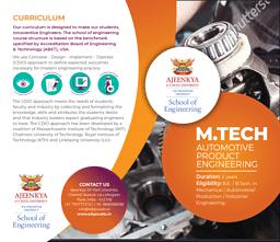 M.Tech (Automotive Product Engineering) Brochure