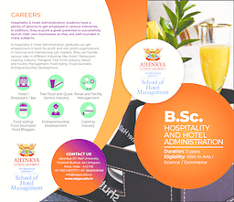 B.Sc (Hospitality and Hotel Administration) Brochure