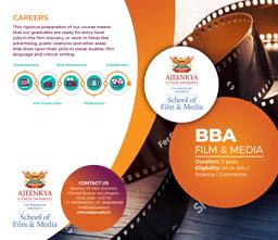 BBA (Film and Media) Brochure