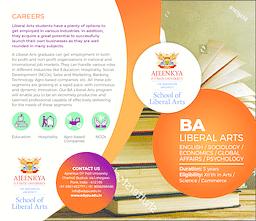 BA (Liberal Arts) Brochure