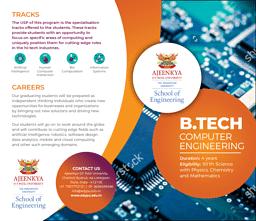 B.Tech Computer Engineering Brochure