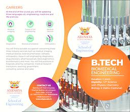 B.Tech (Biomedical Engineering) Brochure