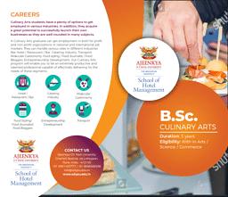 B.Sc (Culinary Arts) Brochure