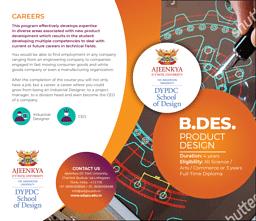 B.Des (Product Design) Brochure