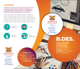 B.Des (Graphic Design) Brochure