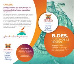 B.Des (Automobile Design) Brochure